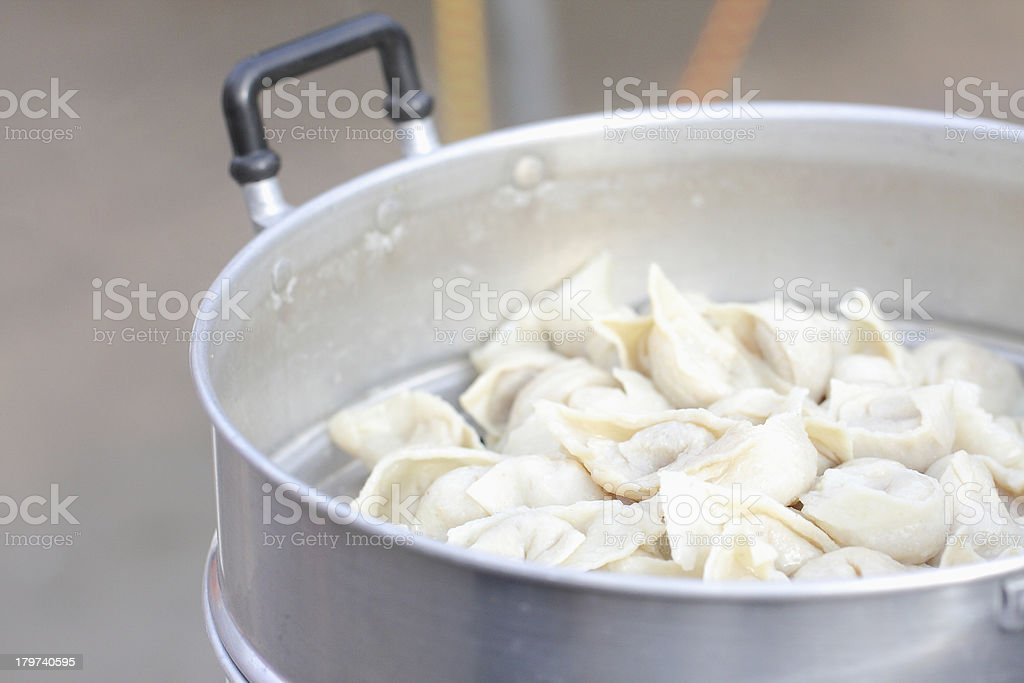 Meatballs made €‹of fish royalty-free stock photo