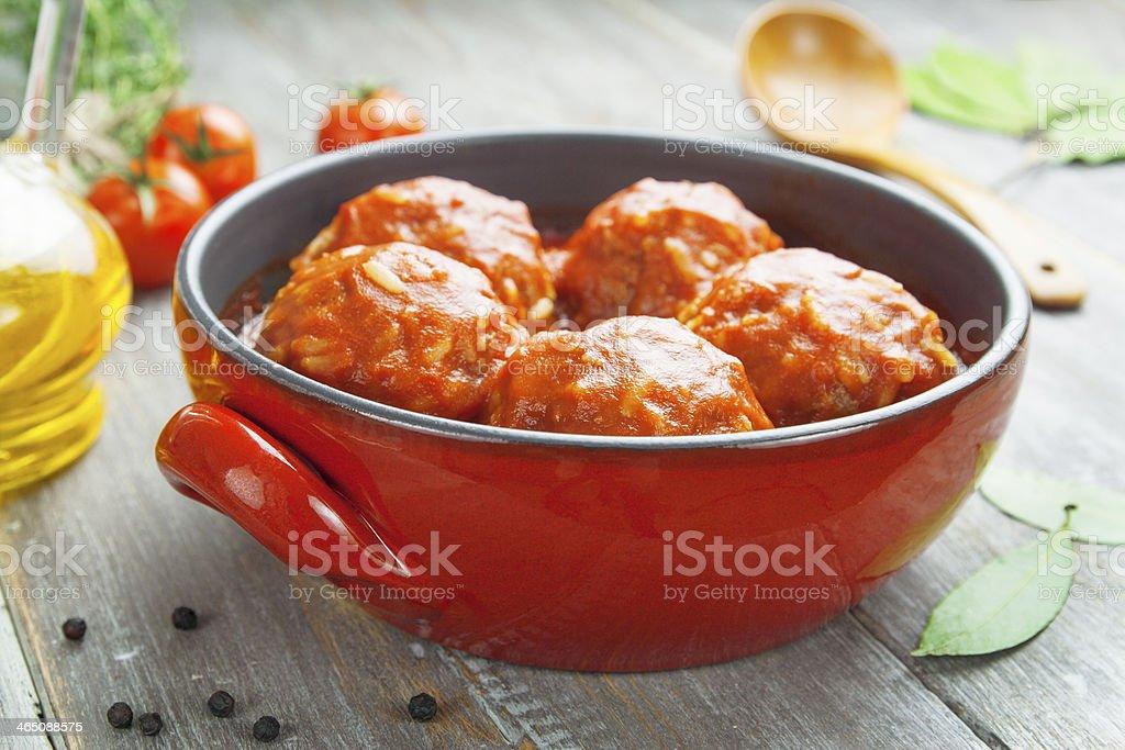 Фрикадельки с рисом в духовке с подливкой рецепт пошагово