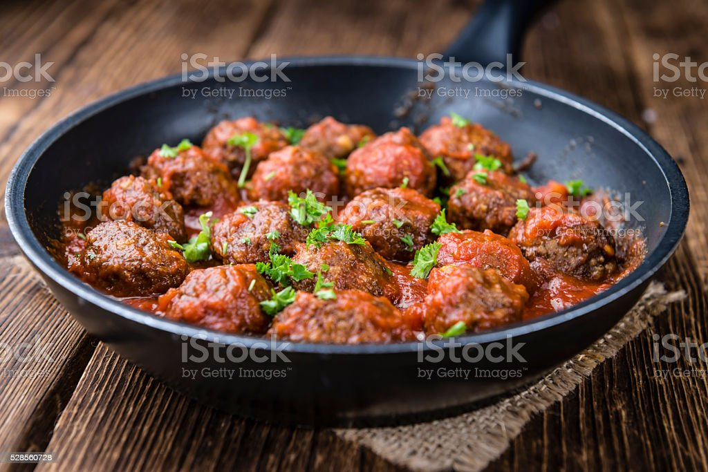 Meatballs with Tomato Sauce stock photo