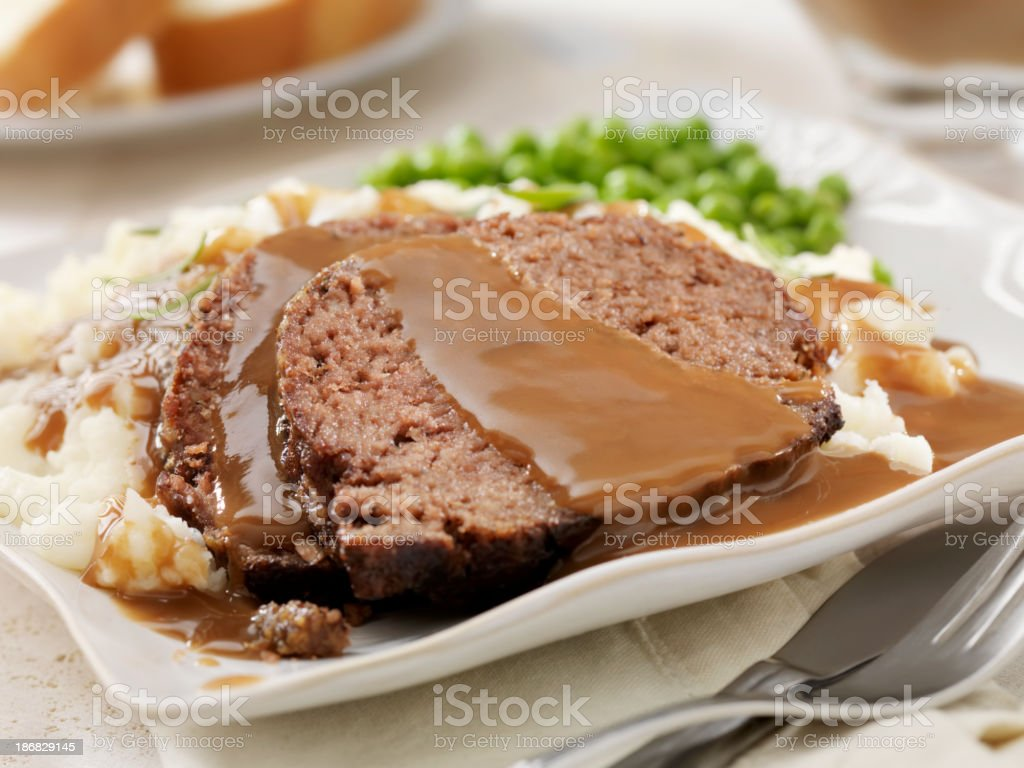 Meatloaf Dinner royalty-free stock photo
