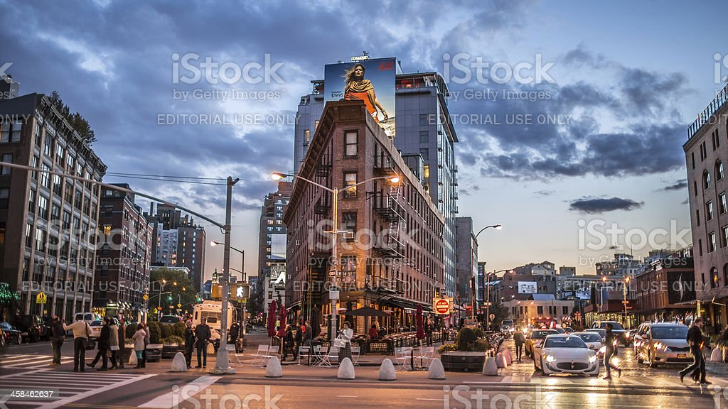Meatpacking District in Early Evening stock photo