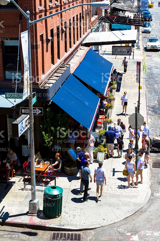 Meatpacking district stock photo