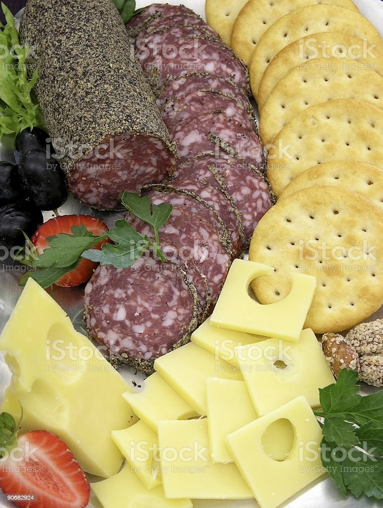 Meats and Cheeses royalty-free stock photo