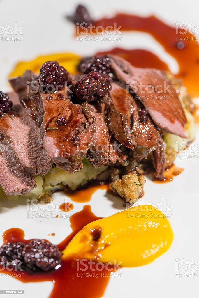 Meats - Roasted Saddle Of Wild Boar stock photo
