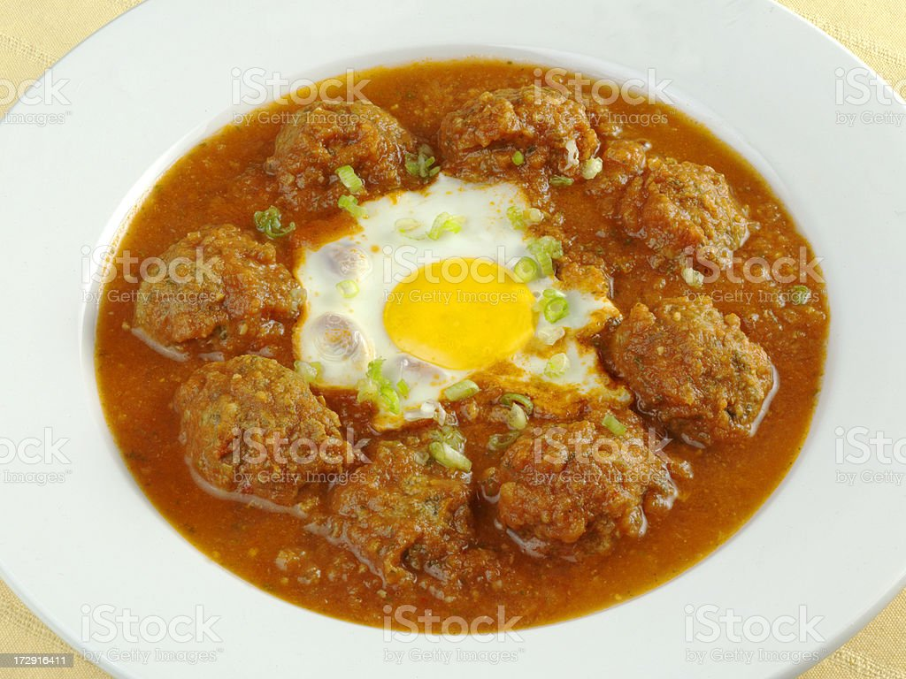 Meay Balls with Egg stock photo