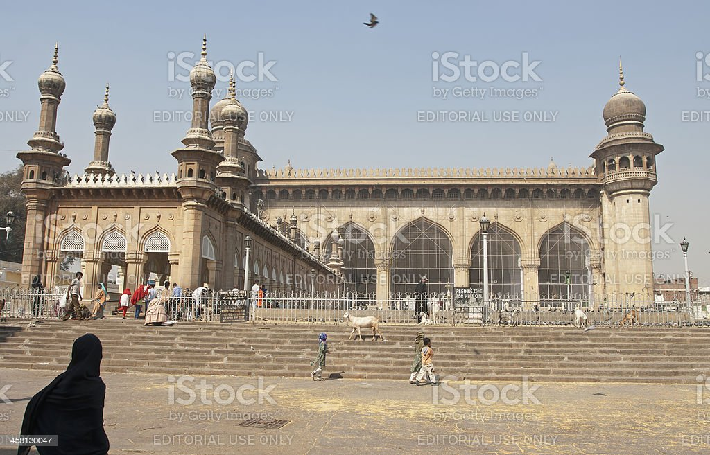 Mecca Masjid, Hyderabad, India stock photo