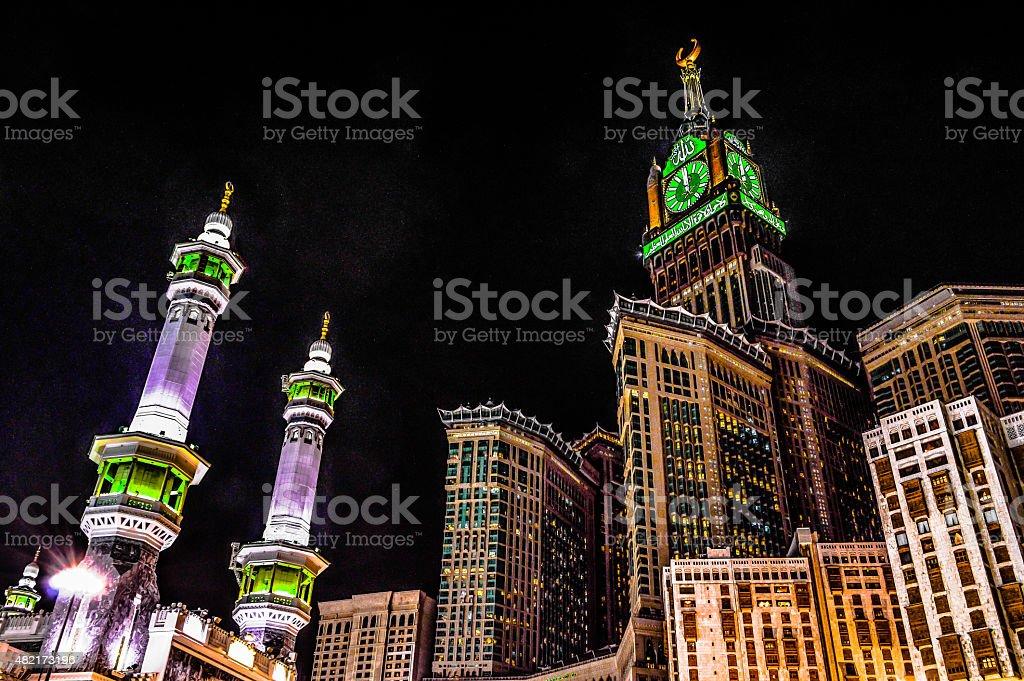 Mecca's towers stock photo