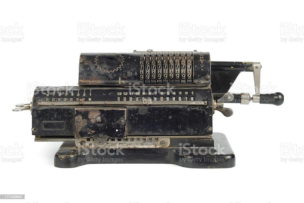 Mechanic Adding Machine stock photo