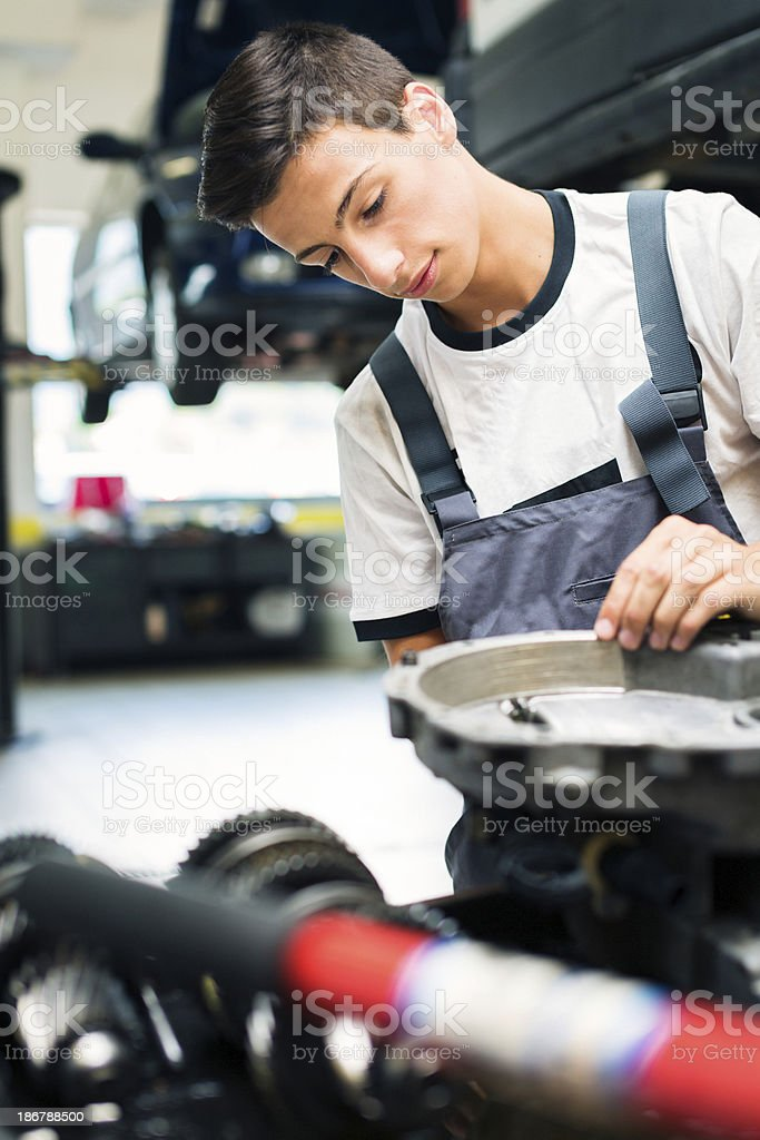 mechanic at the auto repair shop royalty-free stock photo