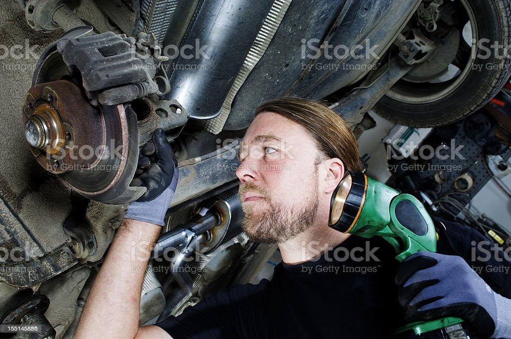 Mechanic At Work royalty-free stock photo