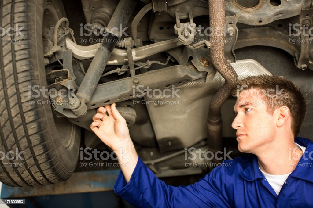 Mechanic At Work royalty-free stock photo