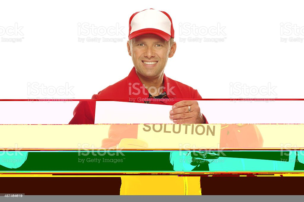 Mechanic in red Overall royalty-free stock photo
