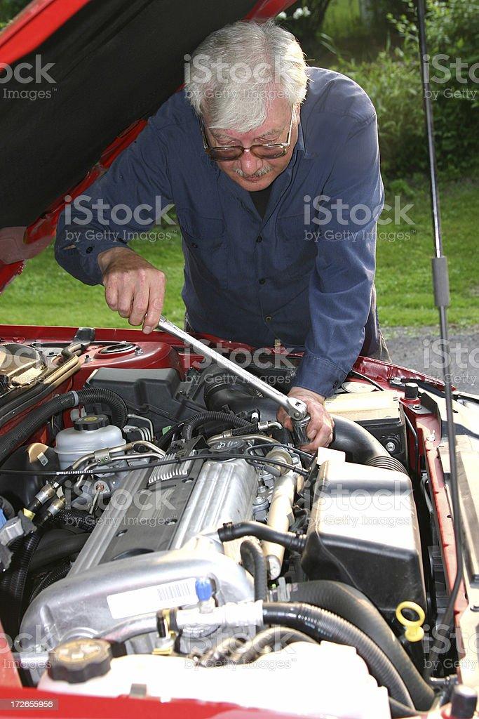 Mechanic:  Minor Repairs royalty-free stock photo