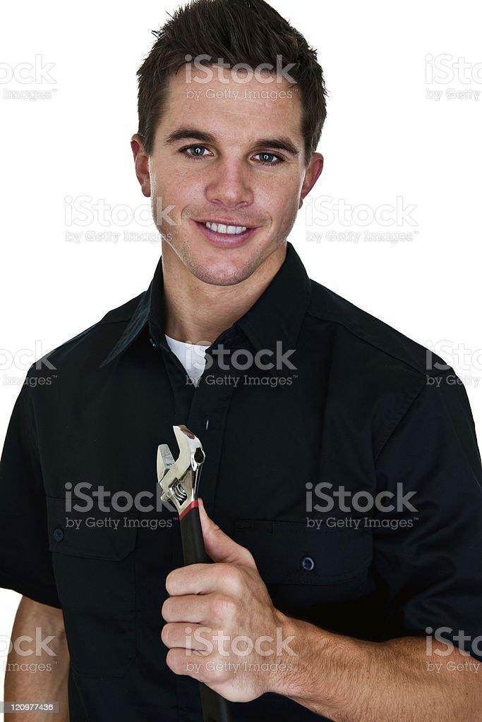 Mechanic or contractor stock photo
