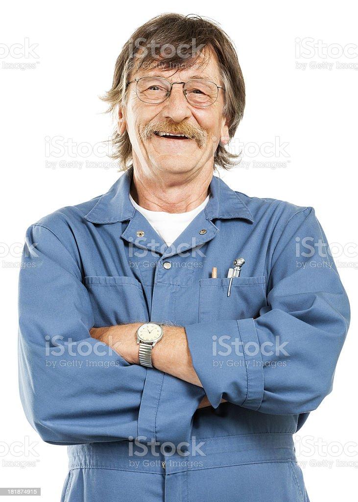 Mechanic (Isolated on White) royalty-free stock photo