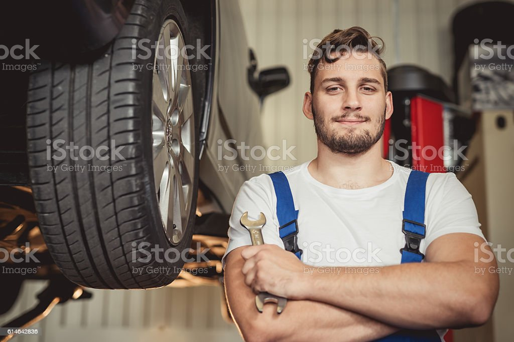 Mechanic stock photo