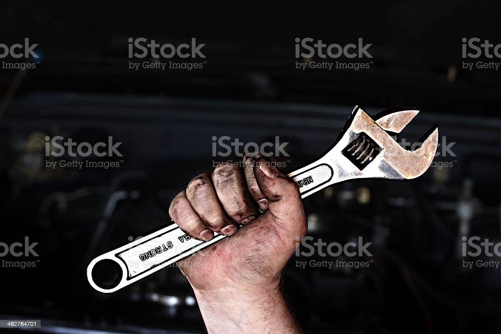 Mechanic Power royalty-free stock photo