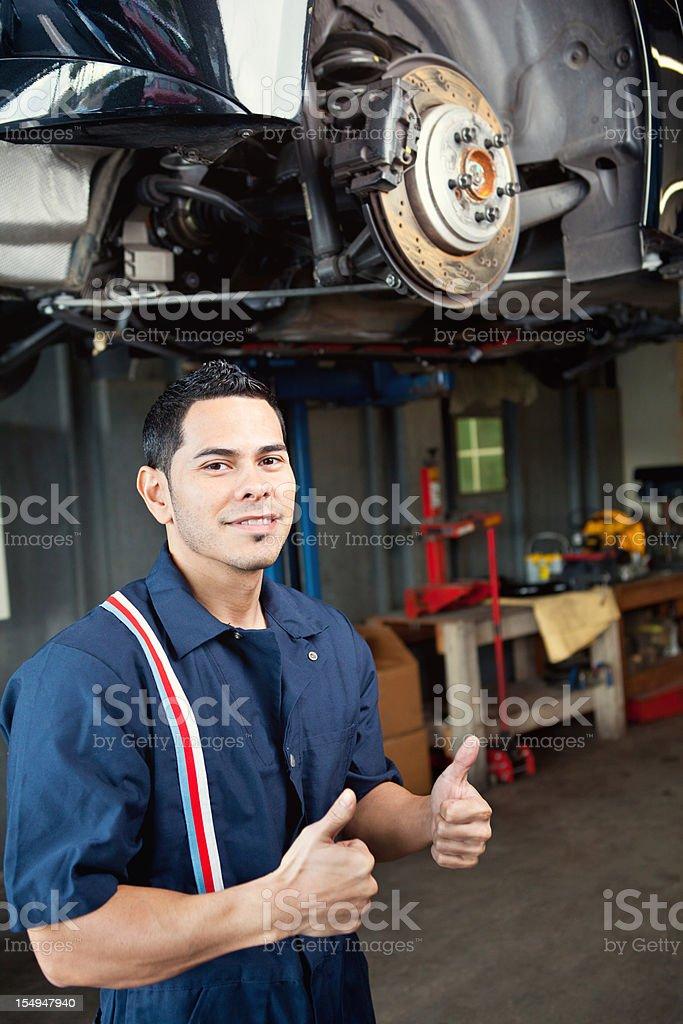 mechanic thumbs up royalty-free stock photo