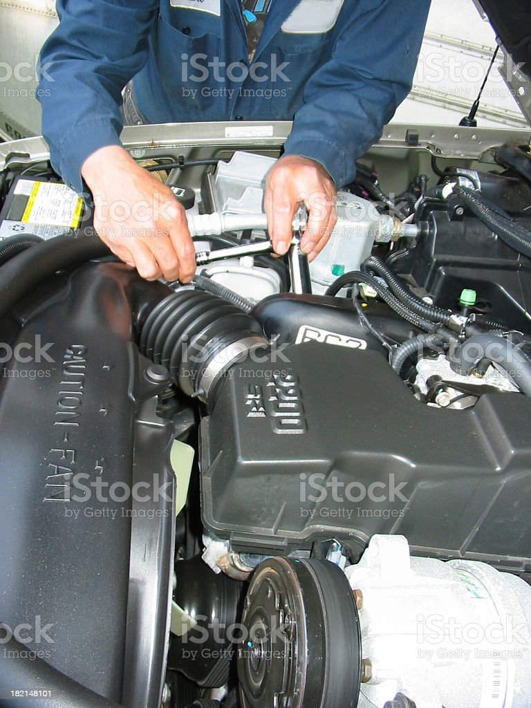 Mechanic - Under The Hood 2 royalty-free stock photo