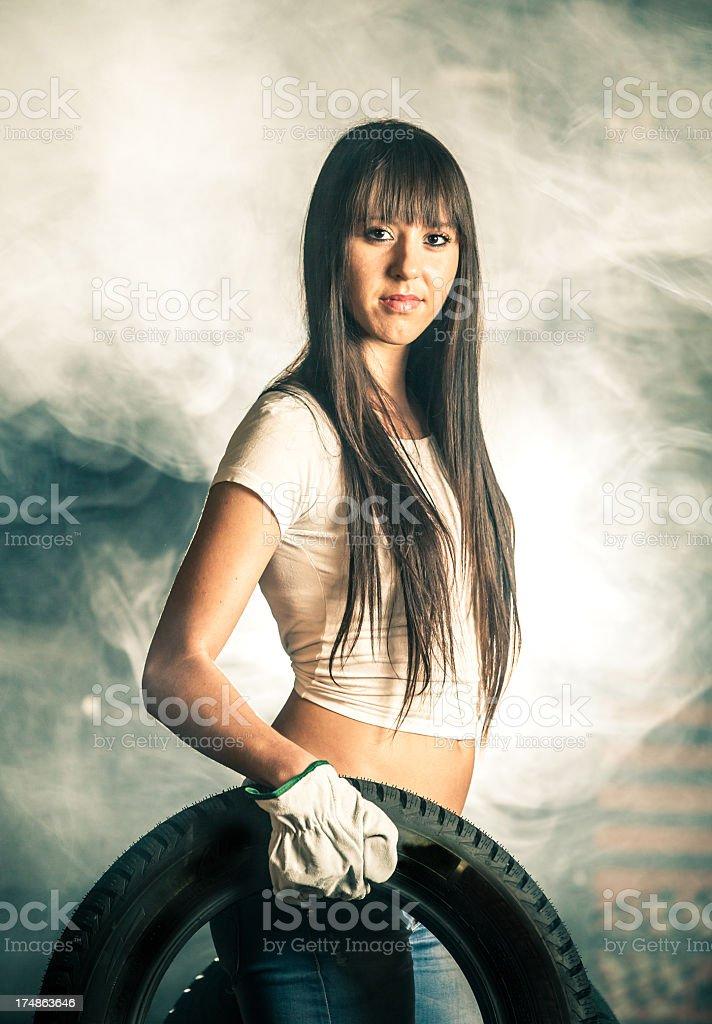 Mechanic woman royalty-free stock photo