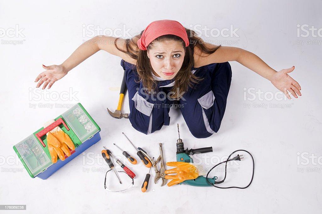 Mechanic Women royalty-free stock photo