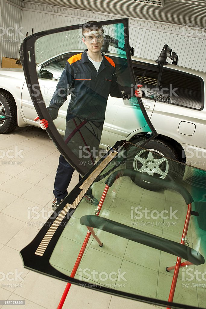 Mechanic working  in Auto Repair Shop. royalty-free stock photo