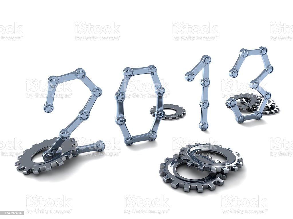 Mechanical 2013 royalty-free stock photo