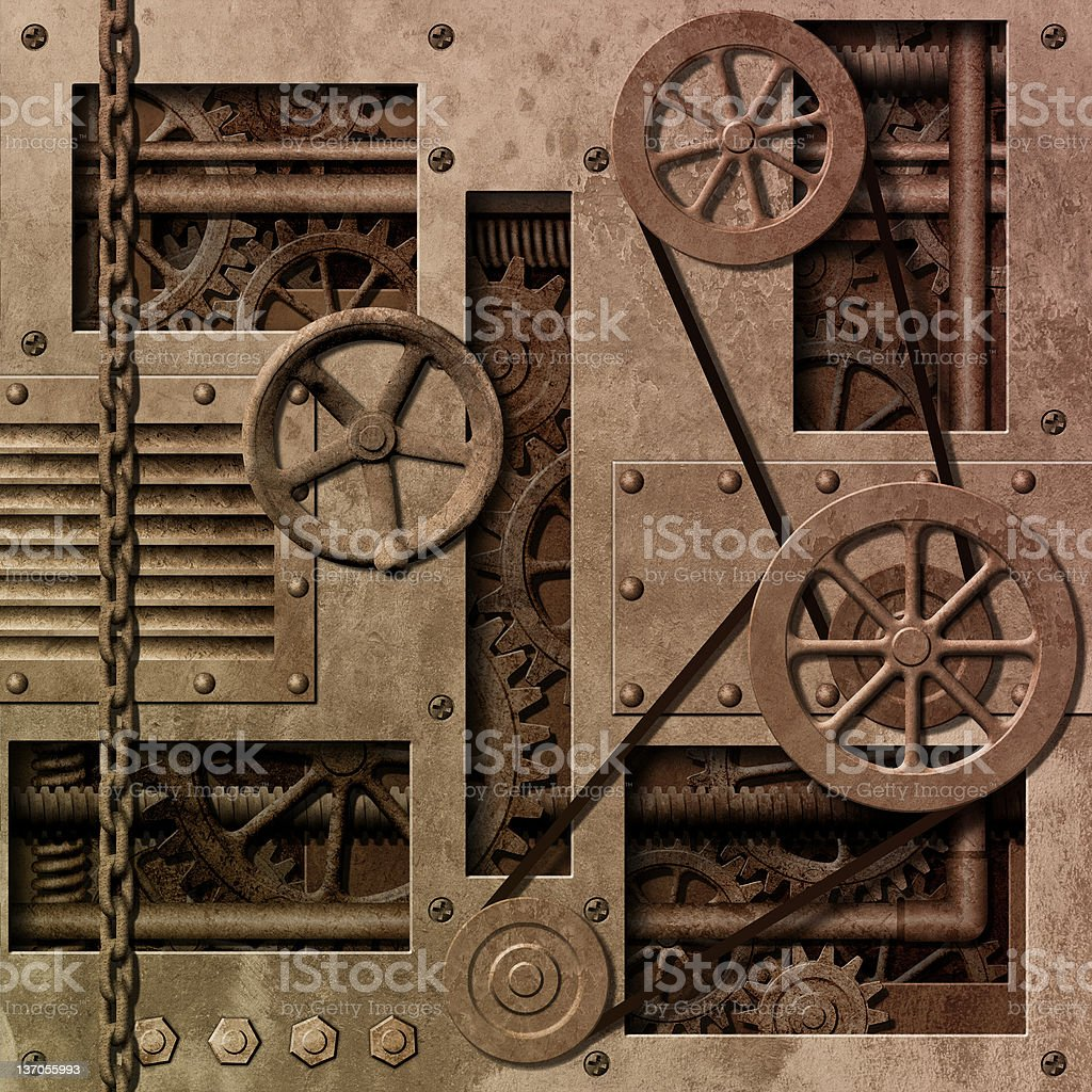 Mechanical  Background royalty-free stock photo
