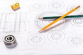Mechanical blueprints.