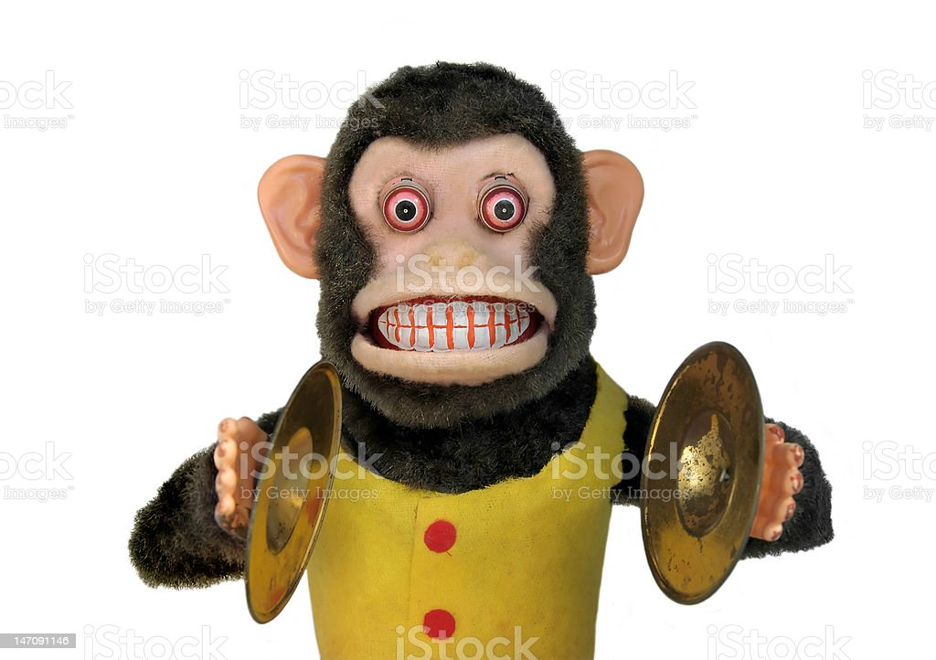 Mechanical Chimp royalty-free stock photo