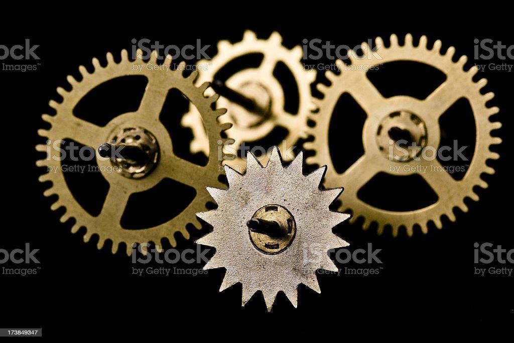 mechanical clock wheels royalty-free stock photo