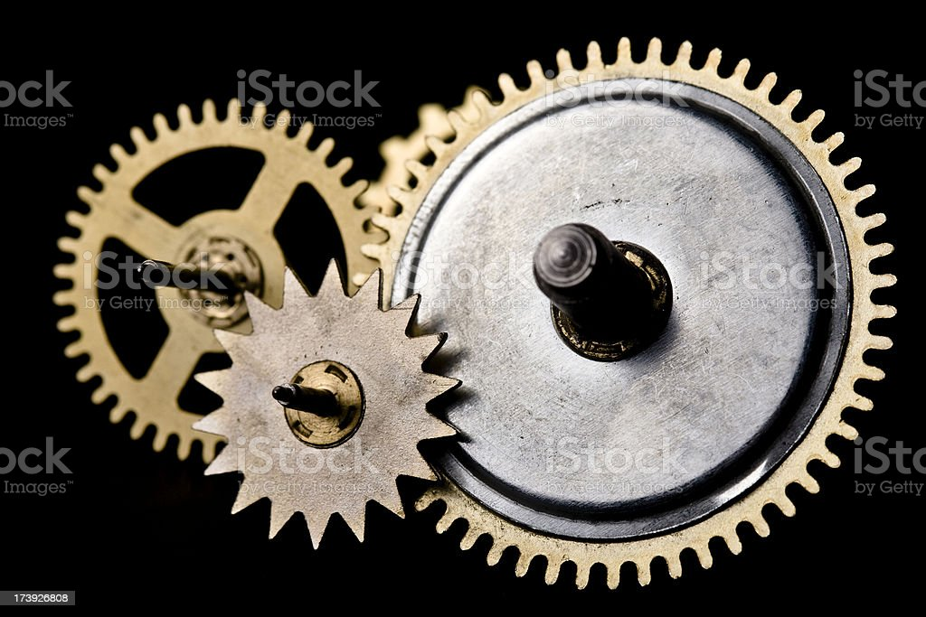 mechanical clock wheels royalty-free stock photo