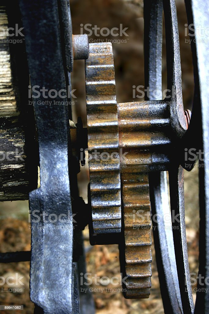 Mechanical Cogs royalty-free stock photo