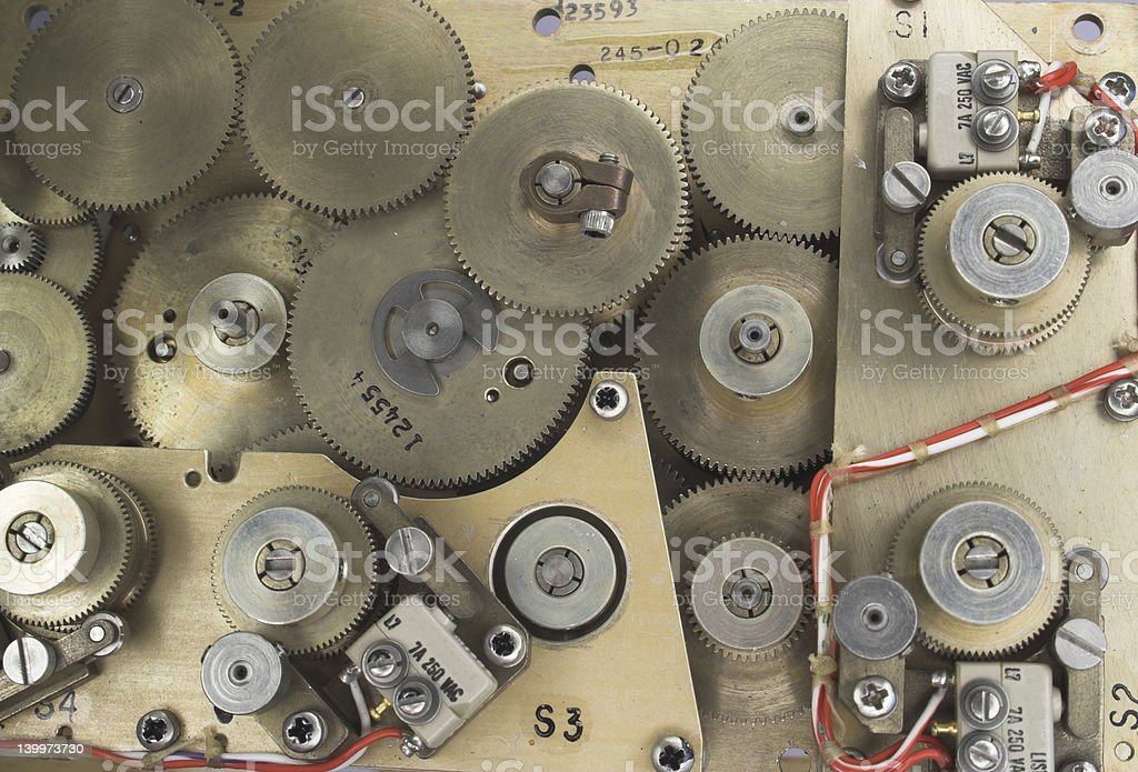 Mechanical computer stock photo