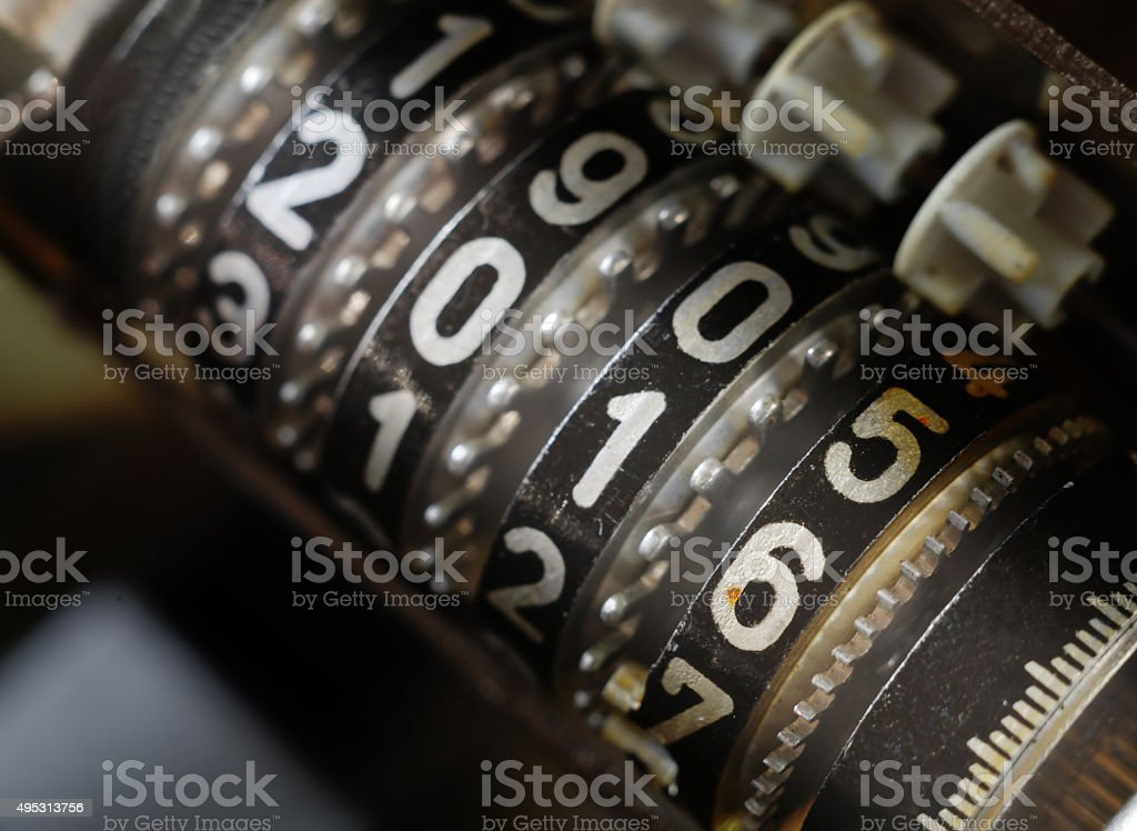 Mechanical Counter 2016 stock photo