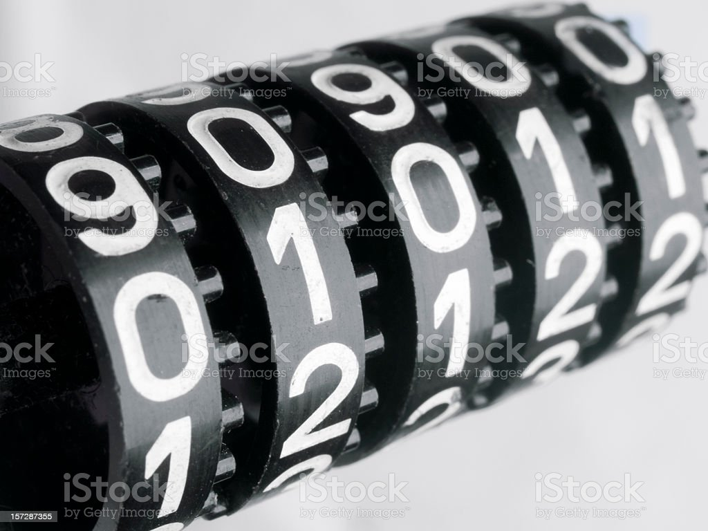Mechanical counter royalty-free stock photo