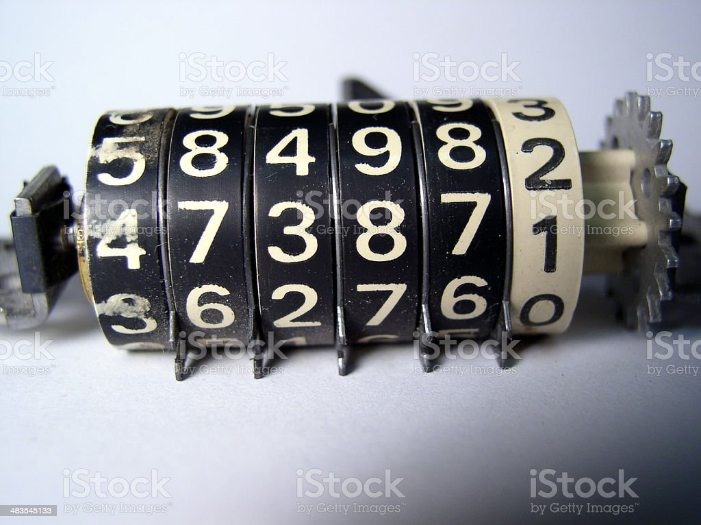 Mechanical counter stock photo
