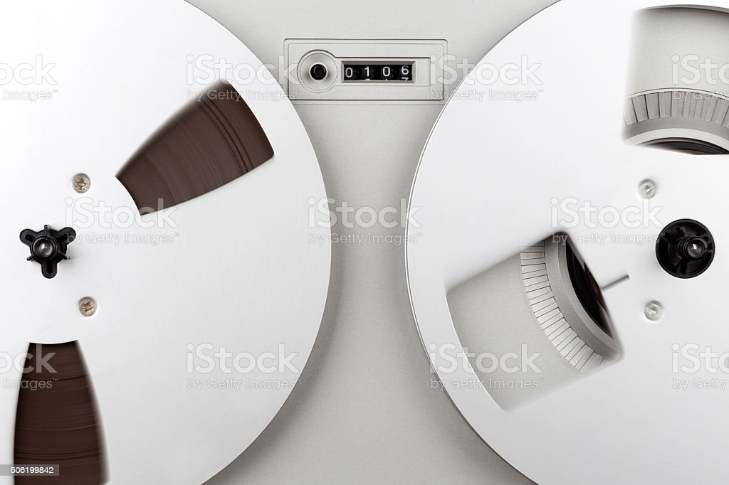 Mechanical counter tape stock photo