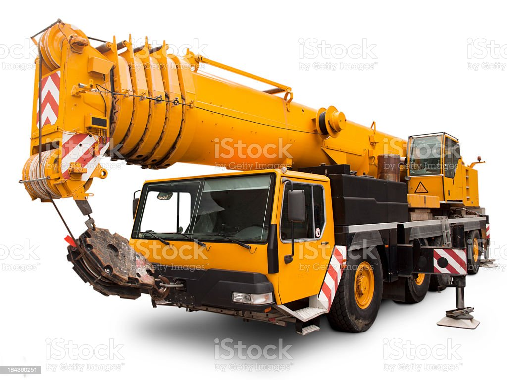 Mechanical crane Liebherr. stock photo