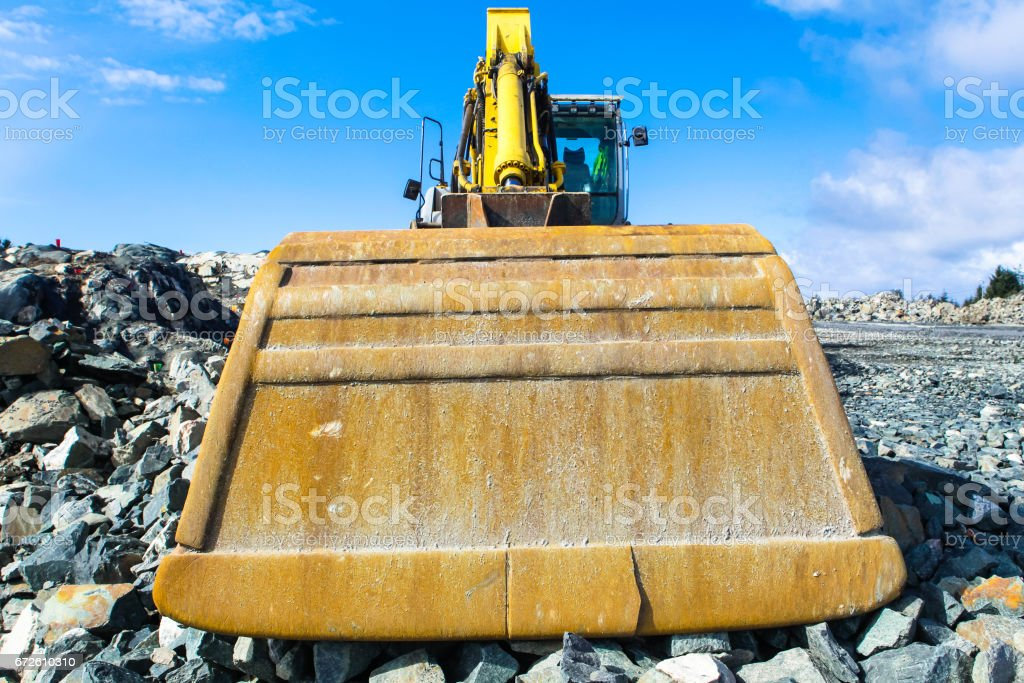 Mechanical Digger stock photo