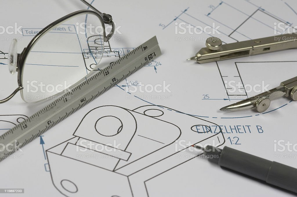 mechanical engineer royalty-free stock photo