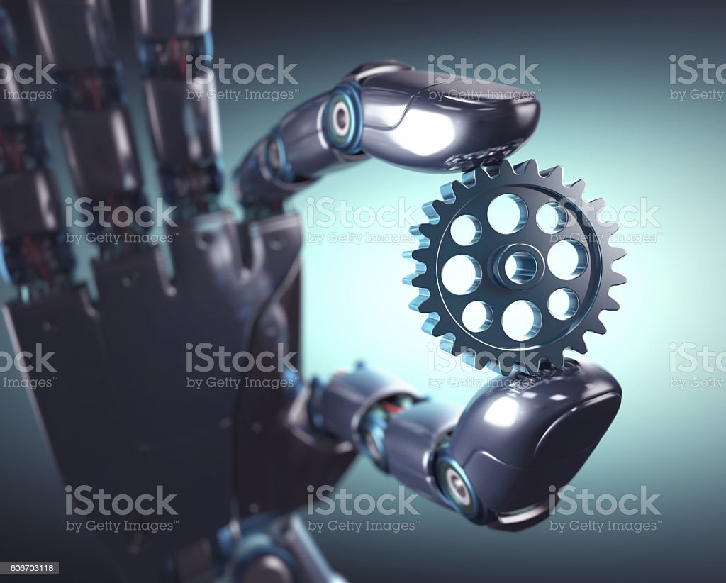 Mechanical Engineering Automation stock photo