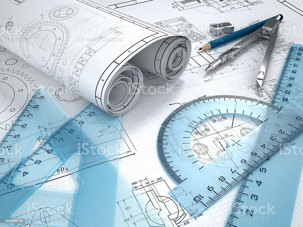 Mechanical engineering stock photo