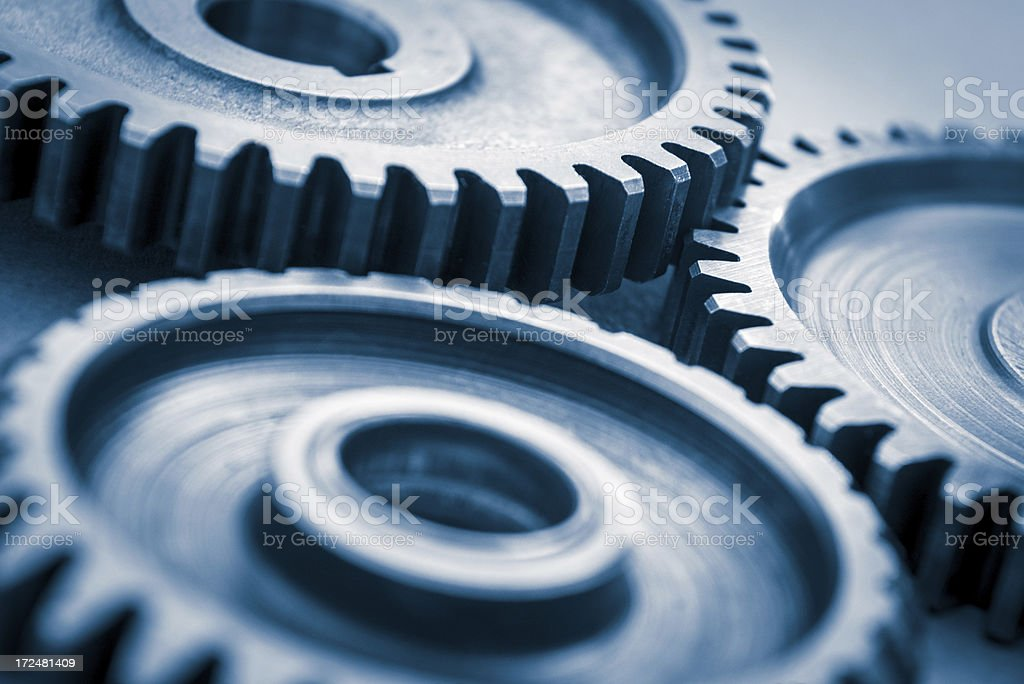 Mechanical gear stock photo