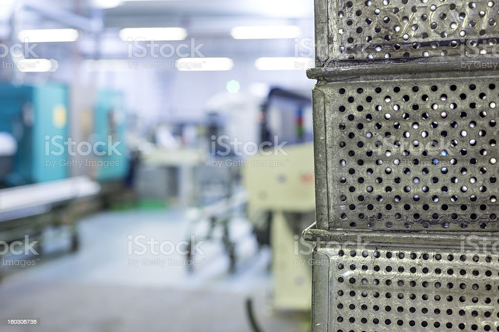 Mechanical industry crates background royalty-free stock photo