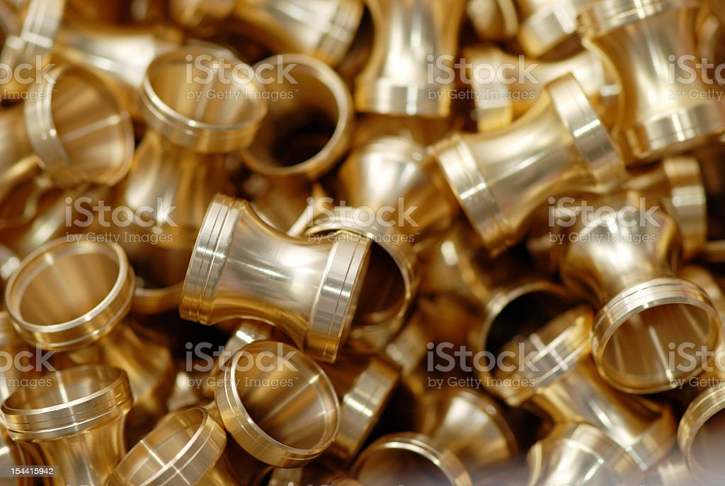 Mechanical industry metal parts background stock photo