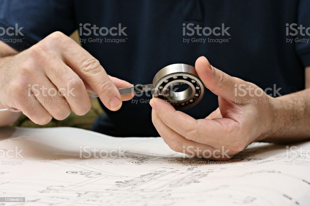 mechanical job stock photo