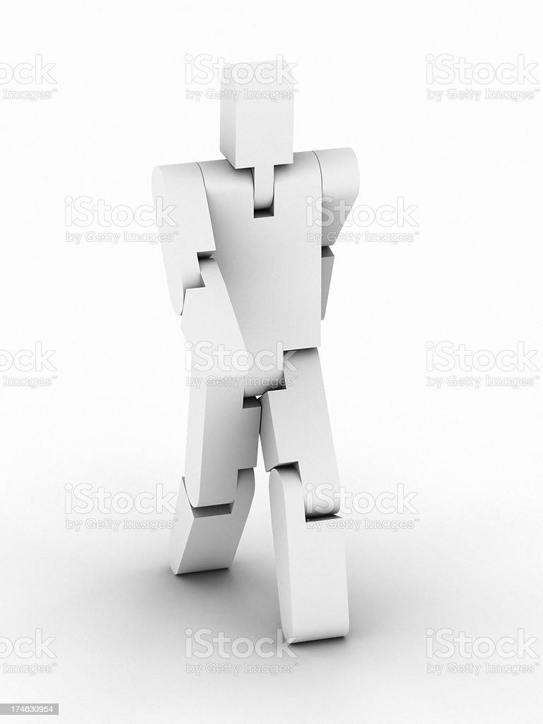 Mechanical Man stock photo