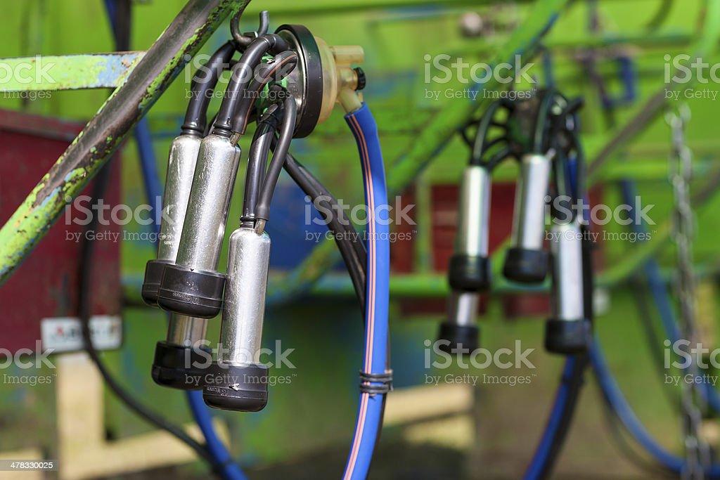 mechanical milker stock photo