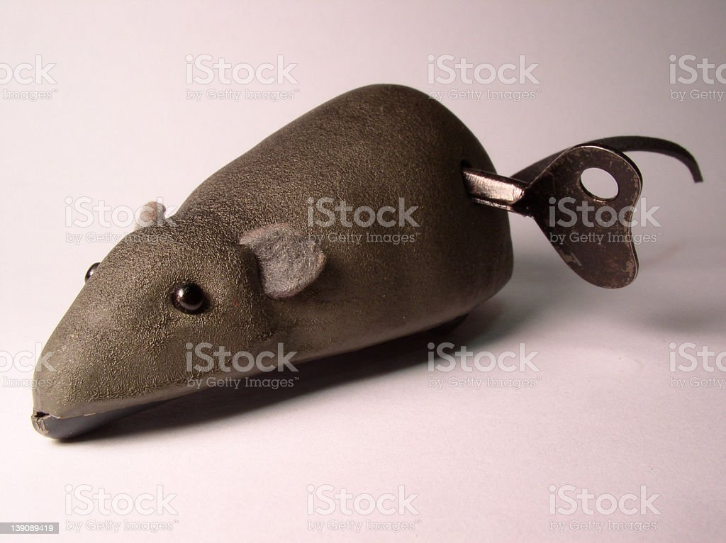 Mechanical mouse toy stock photo